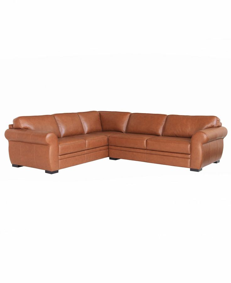 Carmine leather sectional sofa 2 piece sofa and for Macy s sectional sofa leather