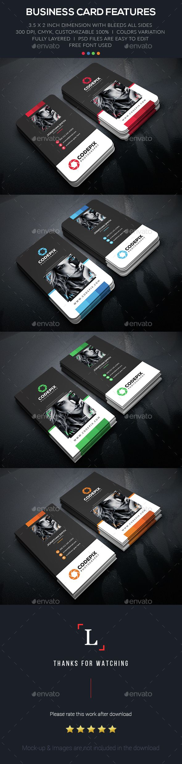 Personal Photography Business Card Template PSD. Download here: http://graphicriver.net/item/personal-photography-business-card/15351710?ref=ksioks