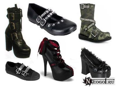 Готические ботинки и сапоги