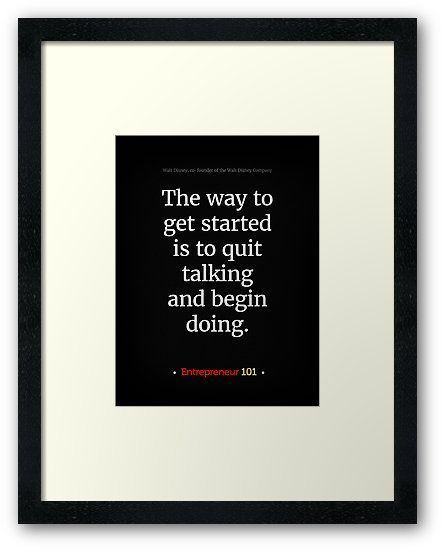 Stop talking and start doing!