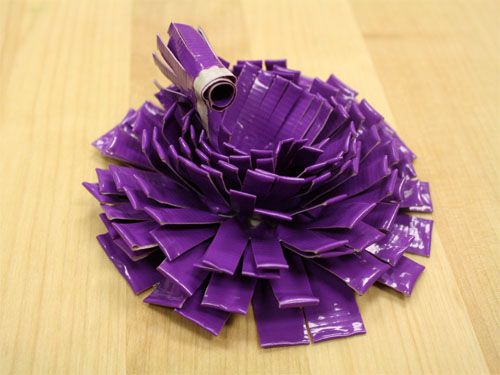 Duct Tape Flowers. How lovely, I just got some new hello kitty duct tape.