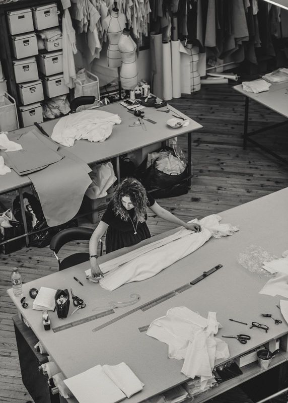 Fashion Design Studio - fashion designer's workspace; pattern cutting; fashion atelier // Laure de Sagazan