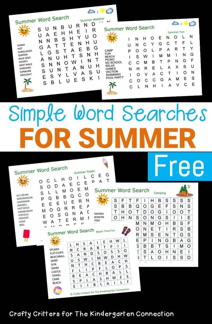 Summer Word Searches For Kids Summer Words School Age Activities Summer Worksheets [ 1125 x 736 Pixel ]