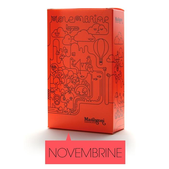 """Almendras, Avellanas, """"Amaretto di Saronno"""" y Chocolate Puro http://marangonicioccolato.bigcartel.com/product/novembrine#"""