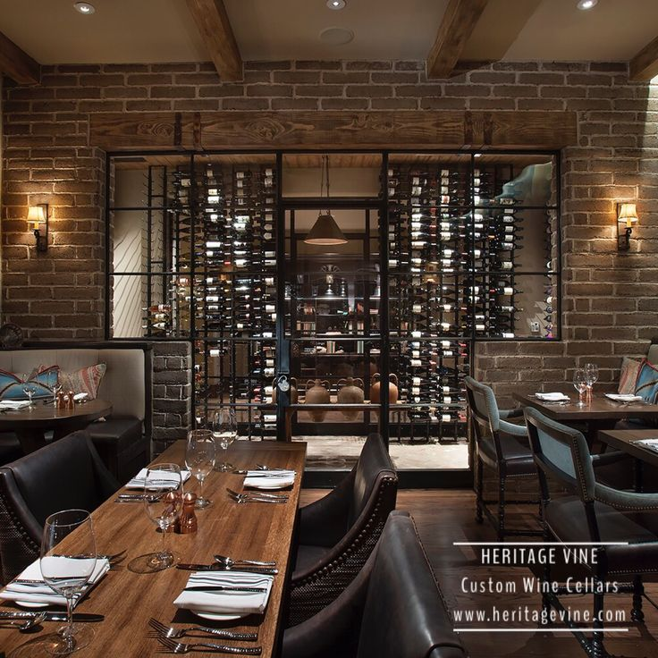 Commercial wine display Commercial wine cellar   Another view of our restaurant wine wall at the D.C. Ranch Country Club in Scottsdale.  Designed and installed by Heritage Vine Custom Wine Cellars