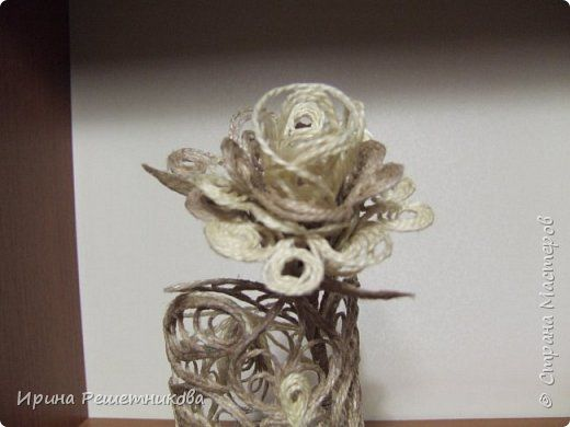 Приветствую рукодельниц! Сегодня у меня наборчик-трио: вазочка,розочка и салфетка. фото 2