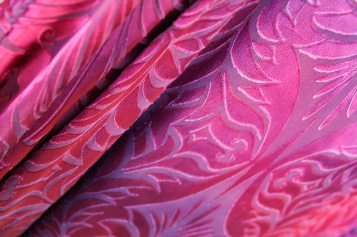 Devore silk fabric in pink by Charles and Patricia Lester