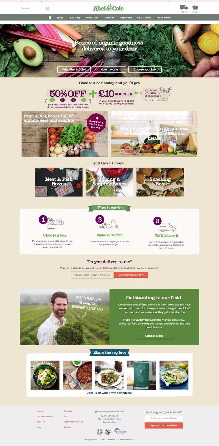 Organic food delivery. Organic vegetable boxes, fruit, meat & more Abel & Cole