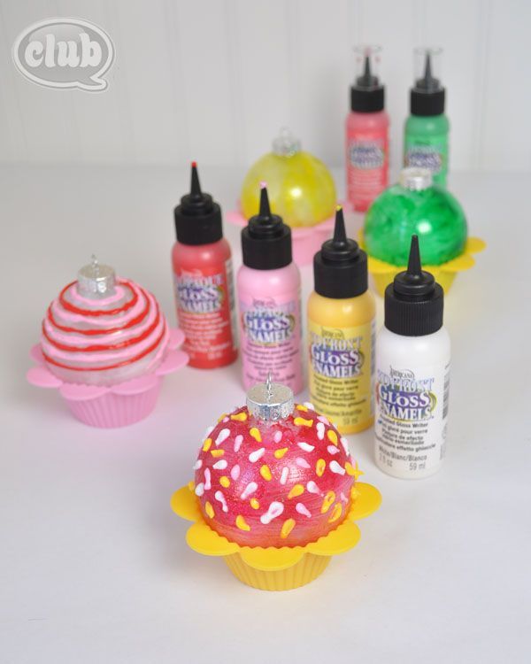 Diy Sprinkle Ornaments: Cupcake Ornament With Sprinkles Made With DecorArt 3D