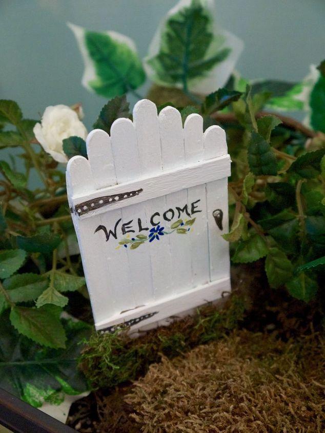 fairy garden doors easy craft stick diy, crafts, gardening - simply glue to paper to start.