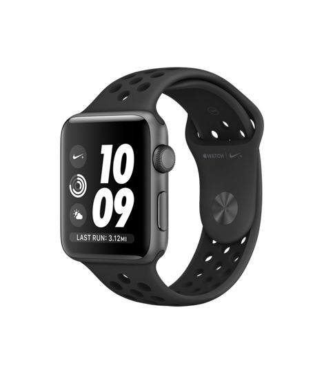 Apple Watch Nike+, 42mm Space Gray Aluminum Case with Anthracite/Black Nike Sport Band - Apple