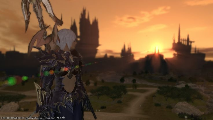 A dragoon and her pet dragon.