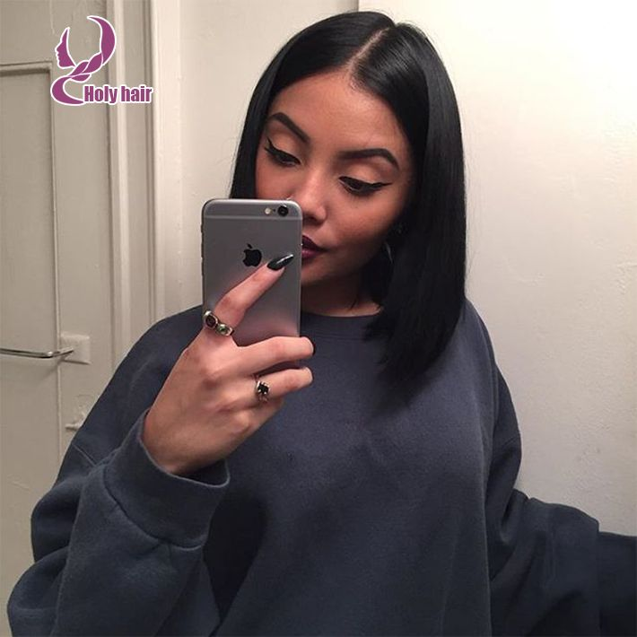 Unprocessed virgin full brazilian silk top lace wigs for black women straight haircuts bob lace wig with natual hairline http://www.aliexpress.com/item/Unprocessed-virgin-full-brazilian-silk-lace-wigs-for-black-women-baby-hair-straight-haircuts-bob-lace/32469712511.html?spm=0.0.0.0.Ah1WKs