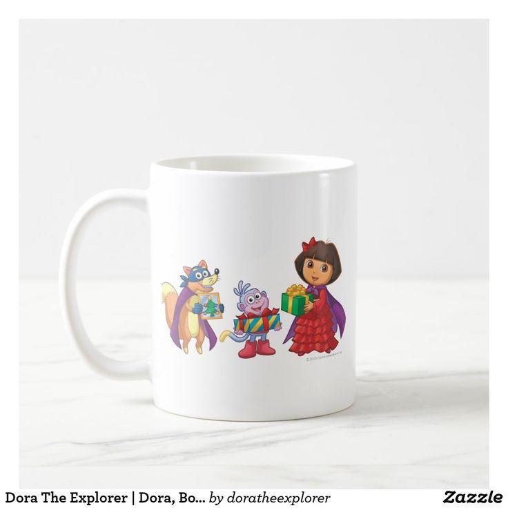 Dora The Explorer   Dora, Boots & Swiper. Regalos, Gifts. Producto disponible en tienda Zazzle. Tazón, desayuno, té, café. Product available in Zazzle store. Bowl, breakfast, tea, coffee. #taza #mug