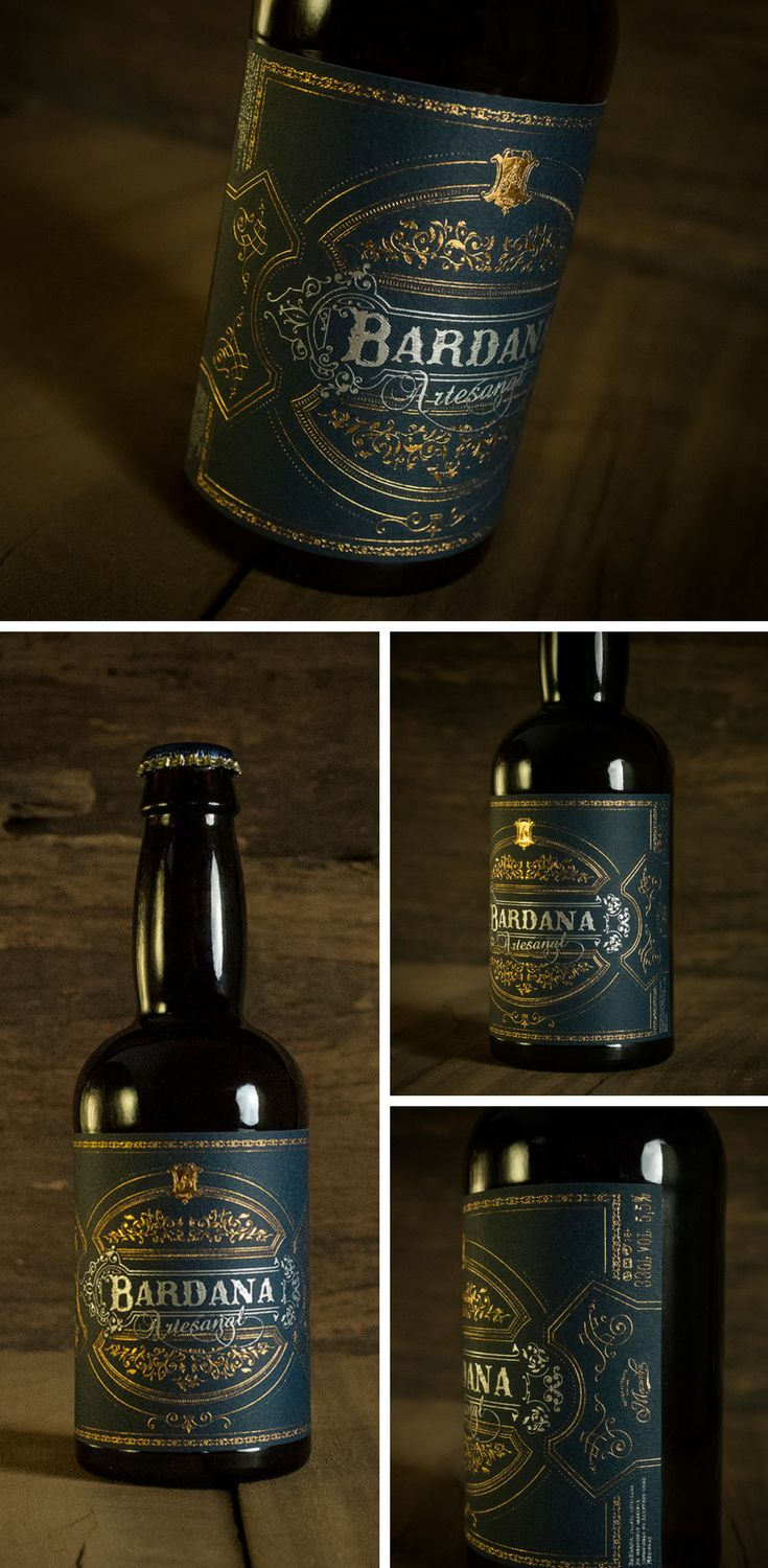 'Bardana' is the name of a medicinal plant found in the south of Portugal. Inspired by the natural ingredients of the craft beer and the artisan process of making it, the bottle label design reflects the rich flavour and the flora of the region.