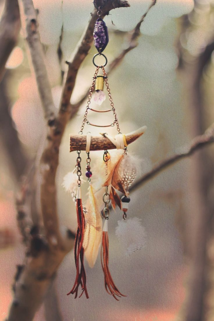 The Bohemian Collective: Earth Medicine // antler dreamcatcher by @Sailors Omen