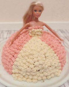 Barbie pink Princess Cake // Barbie Prinzessin Torte
