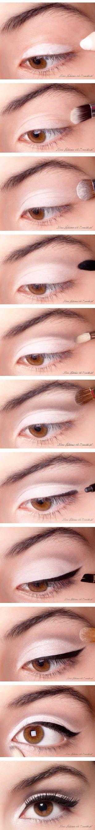 Maquillaje felino para ojos marrones