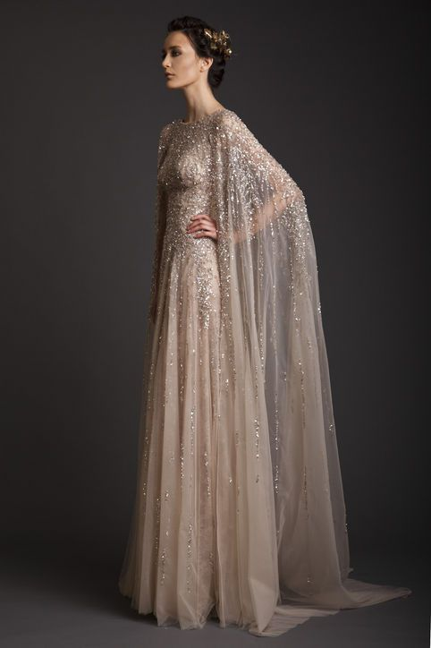 Krikor Jabotian wedding gown--so dramatic!