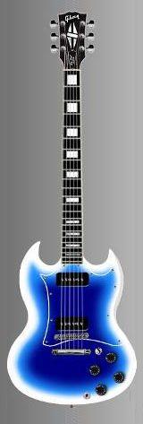 Gibson SG in blue snow burst finish.