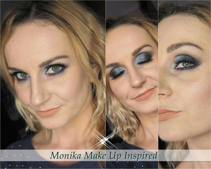 Makijaż inspiracja kolor niebieski