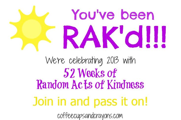 52 Weeks of Random Acts of Kindness from Coffee Cups and Crayons