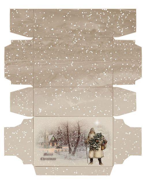 Miniature Printables - Christmas Tree Box