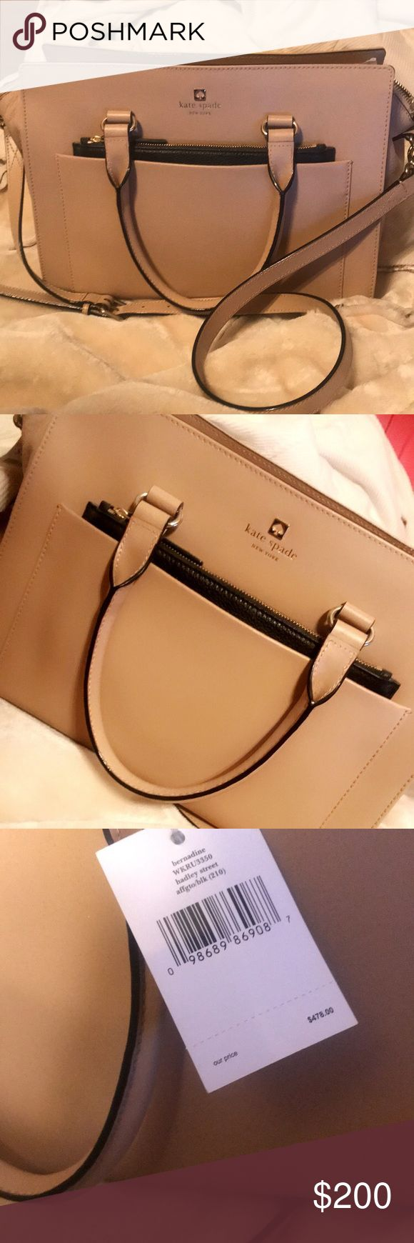 Kate Spade nude purse (never been used) Beautiful Kate Spade nude purse, in tact never been used. Perfect to match with any outfit ✨ kate spade Bags Shoulder Bags