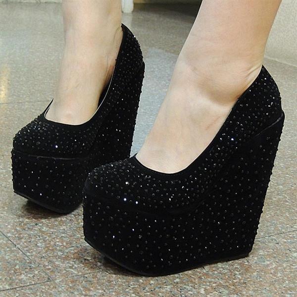 Туфли женские на сплошной платформе