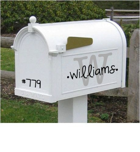 Decorative Mailbox Decal 3 Decals One for Each Side by LexisLoft