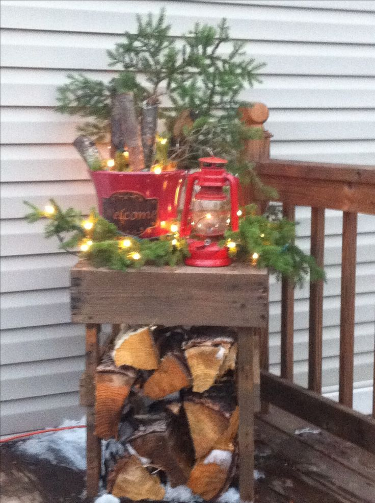 primitive country porch christmas decor my upload