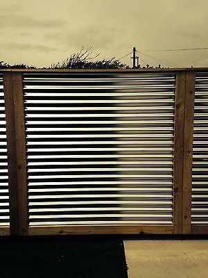 Corrugated metal fence panels…