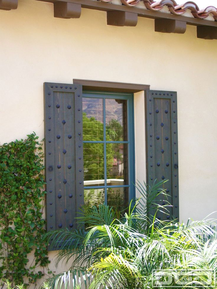 176 best spanish colonial revival remodel images on for Spanish style window shutters