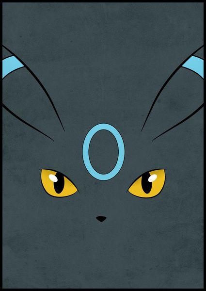 #197 Shiny Umbreon. Pokemon Poster - Eeveelution Art Print by Jorden Tually Art | Society6