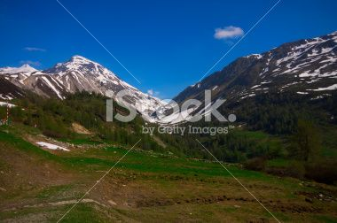 Summer Alpine landscape Royalty Free Stock Photo. #Alpine #Alps #Landscape #Summer #Holiday #Italy #BlueSky #Nature #Park
