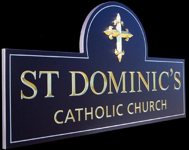 St Dominics Catholic Church sign / Danthonia Designs
