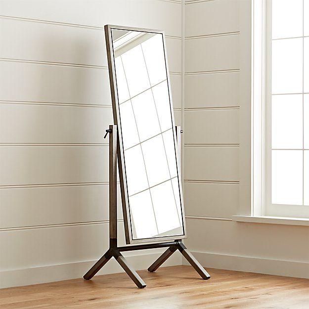 Malvern Espresso Cheval Floor Mirror Reviews Crate And Barrel Floor Mirror Elegant Mirrors Freestanding Mirrors