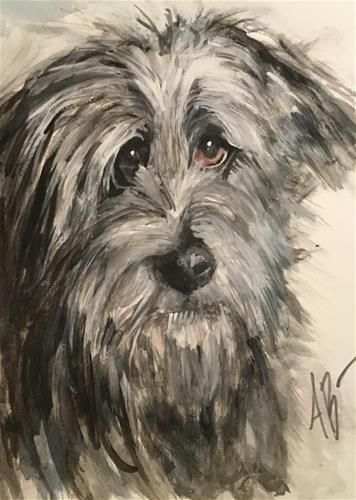 "Daily Paintworks - ""Irish Wolfhound"" - Original Fine Art for Sale - © Annette Balesteri"