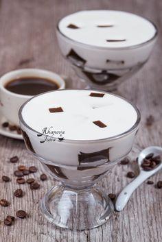 Сметанное желе с кофе