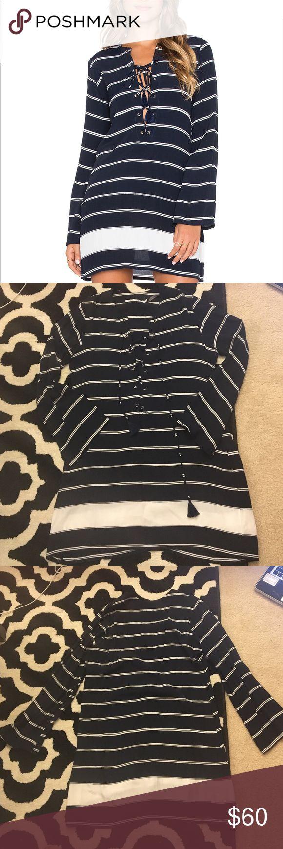 Faithfull The Brand Roman Americana Stripe Dress Beautiful navy striped nautical dress. Worn twice. Faithfull the Brand Dresses