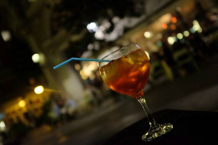 """APEROL SPRITZ - delicious, """"bitter-sweet symphony"""" - my favourite drink... well served for example in Lobo Bar, Barcelona (ESP)"""