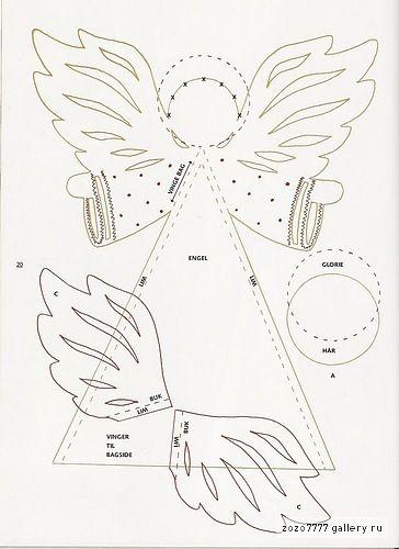 craftaholic: Anjo da Paz - MOLDE - Decoração de Natal