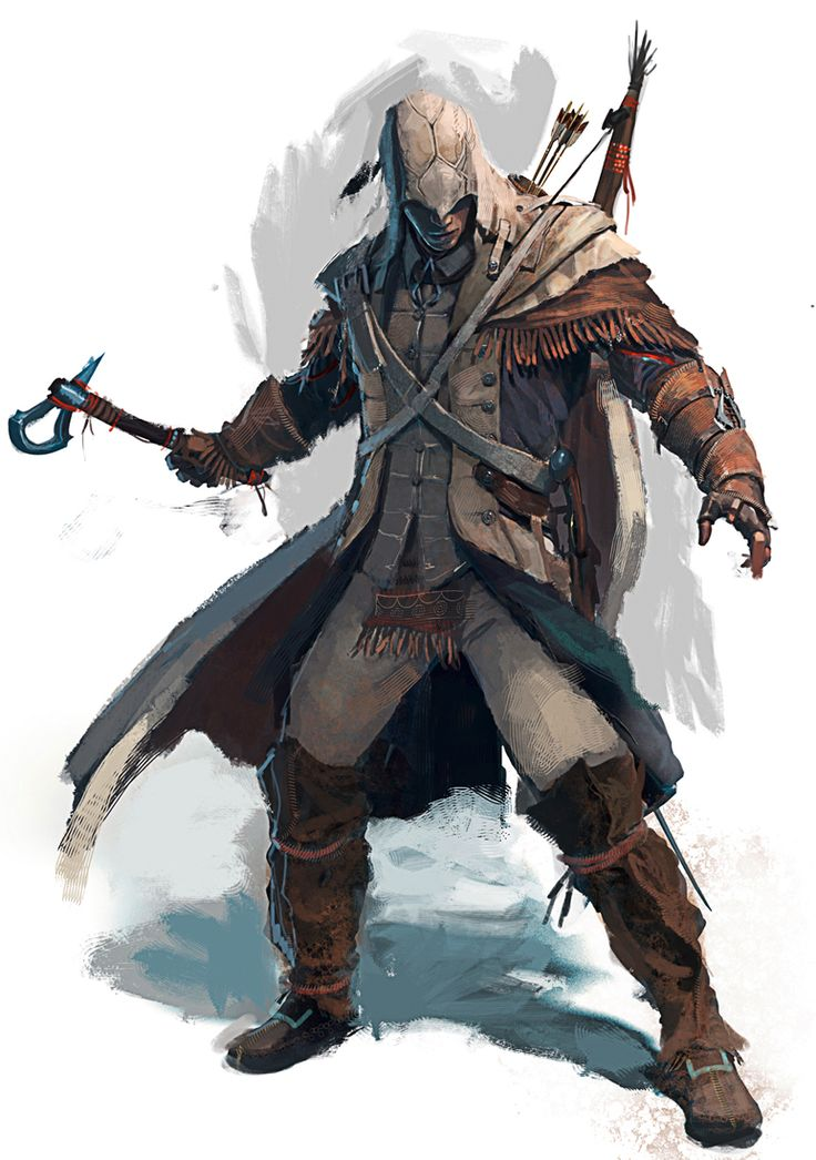 Assassin's Creed, Connor Kenway, Concept Art.