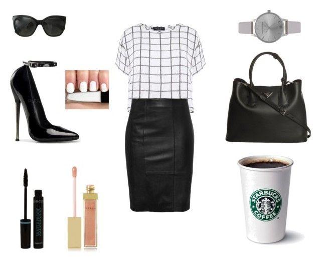 """class..!!"" by neha-barangali on Polyvore featuring Myne, Chanel, Prada, AERIN and Olivia Burton"