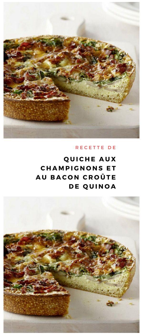#quiche #champignon #bacon #quinoa