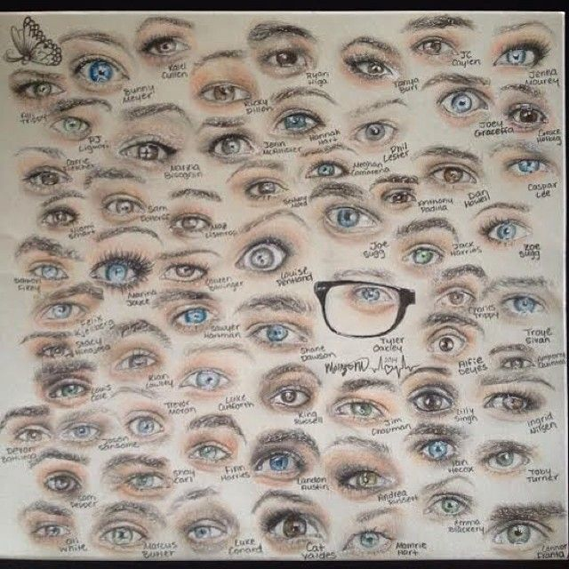 YouTubers eyes. Every single one of the are so accurate.