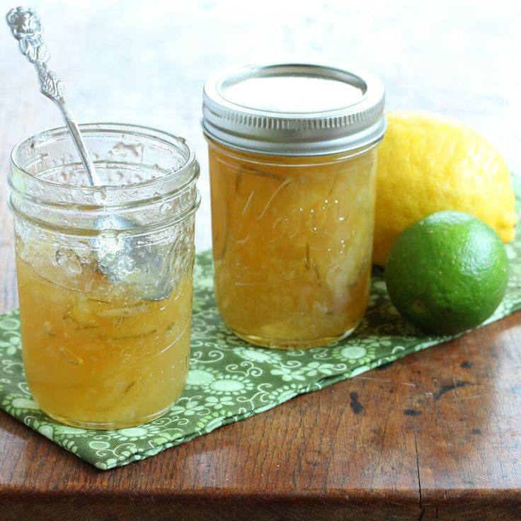 Homemade Lemon Lime Marmalade plus tons of delicious ways to use it! #lemon #lime #jam #marmalade daringgourmet.com