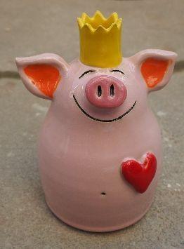 lustige figürliche Kerzenständer aus Keramik von Gabi Winterl