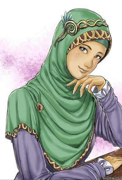 Queenly Hijabi with Mysterious Smile