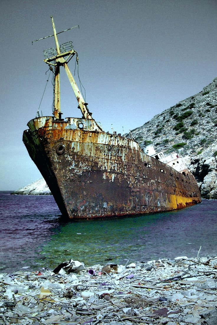 "Olympia freighter - Amorgos (Greece) movie ""The Big Blue"" by Pascual Ibañez"